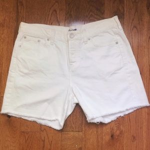 Madewell White Denim Boyshorts